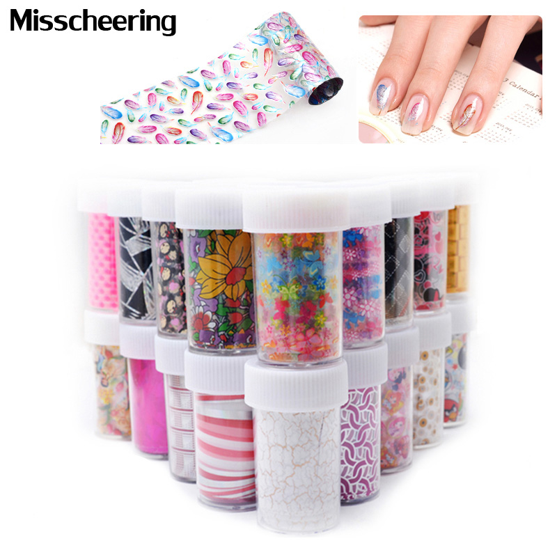 6pcs/set Nail Art Transfer Foil Rolls 50Designs Flowers Lace Nail Sticker Decoration Decals Styling Craft Manicure Nail Tools 120m 4cm green transfer foil nail art sticker decorations harajuku style nail foil rolls manicure nail decoration tools wy238