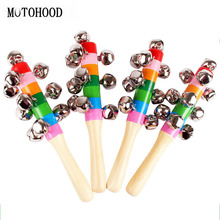 MOTOHOOD Wooden Baby Toys For Children 0-12 Months Toddler Music Toys Kids Baby Educational Handle Bell Rattle Toys Gift