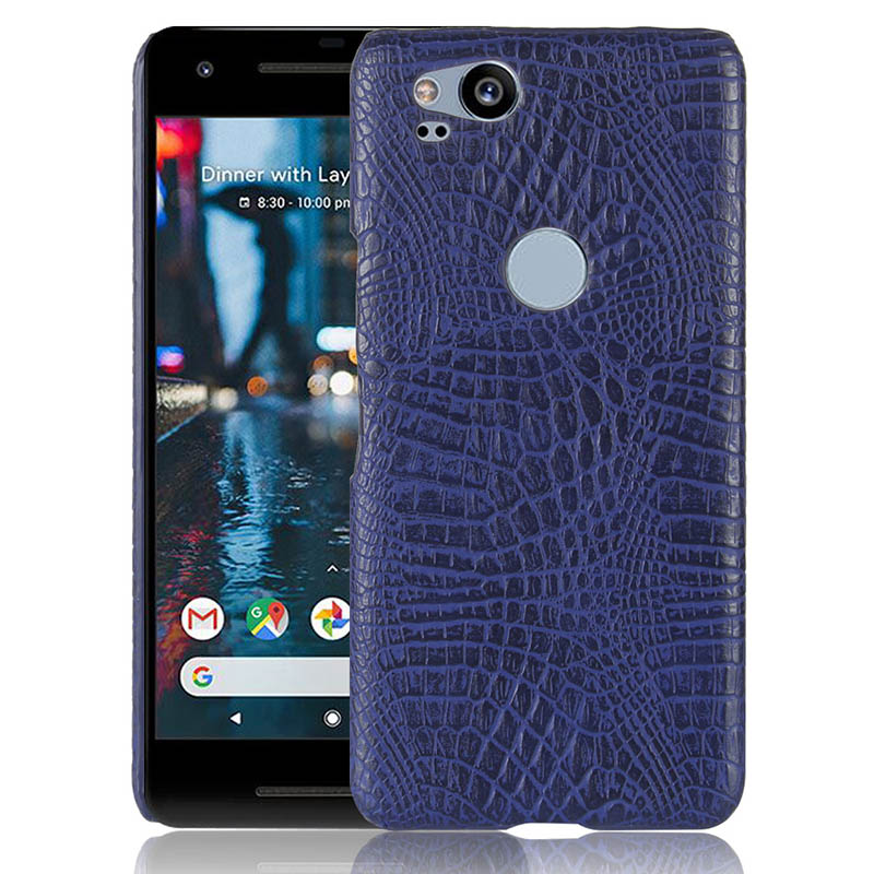 Croco Texture Phone Cases For Google Pixel 2 Crocodile Pattern PU Leather Hard PC Cover For Google Pixel 2 XL Case Capa