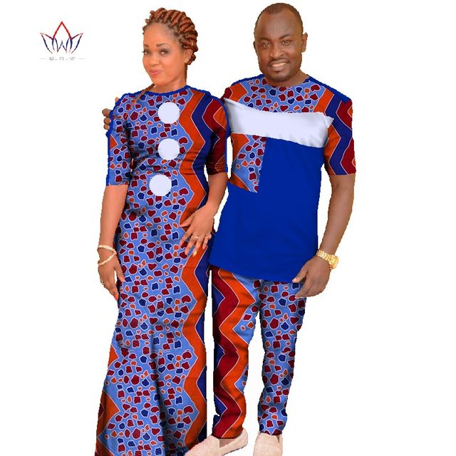 Plus Size 6xl Fashion Couple Clothes Lovers Women Dresses Men Sets