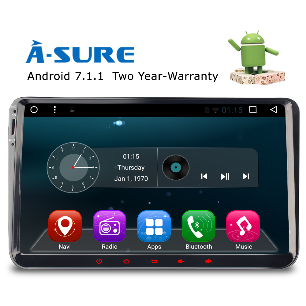 A Sure DAB+ 9'' Android 7.1 Radio Player Navi Sat Nav GPS for VW PASSAT Sharan TIGUAN TOURAN CADDY GOLF T5 Jetta Polo EOS