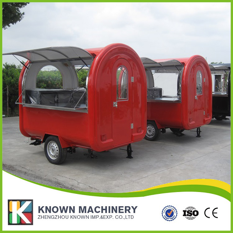 все цены на 2018 hot sale mobile food carts/trailer/ ice cream truck/snack food carts for red color with free shipping by sea