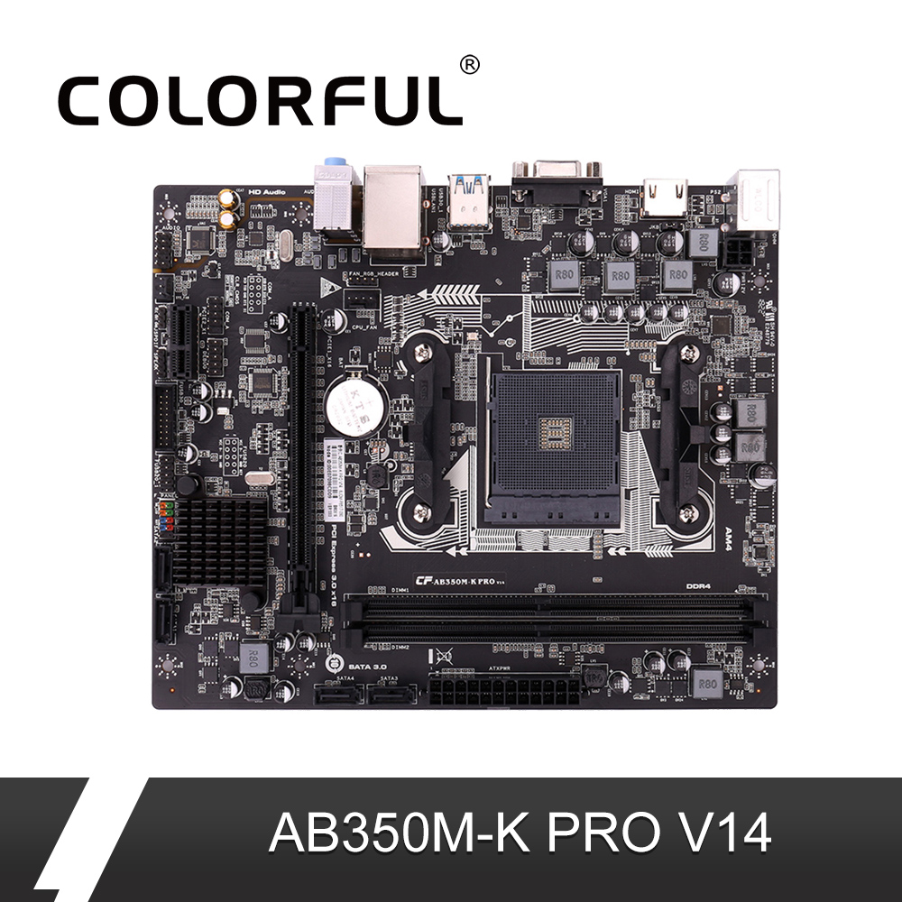 Colorful AB350M PRO V14 Motherboard AMD B350 AM4 MATX Mainboard DDR4 VGA HDMI SATA3 0 6Gb