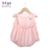 Hhtu 2016 recién nacidos mamelucos de los bebés ropa del verano de algodón de dibujos animados hebilla traje mamelucos del mono recién nacido del bebé dress