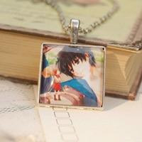 6pcs Lot Anime The Borrower Arrietty Miyazaki Hayao Necklaces Long Necklaces Pendants Handmade Cabochon Necklace Dxl009