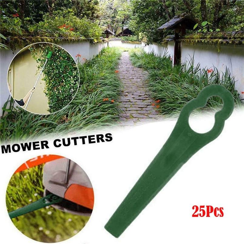 100pcs Plastic Grass Trimmer Blades Mower Replacement for Garden Trimmer Green