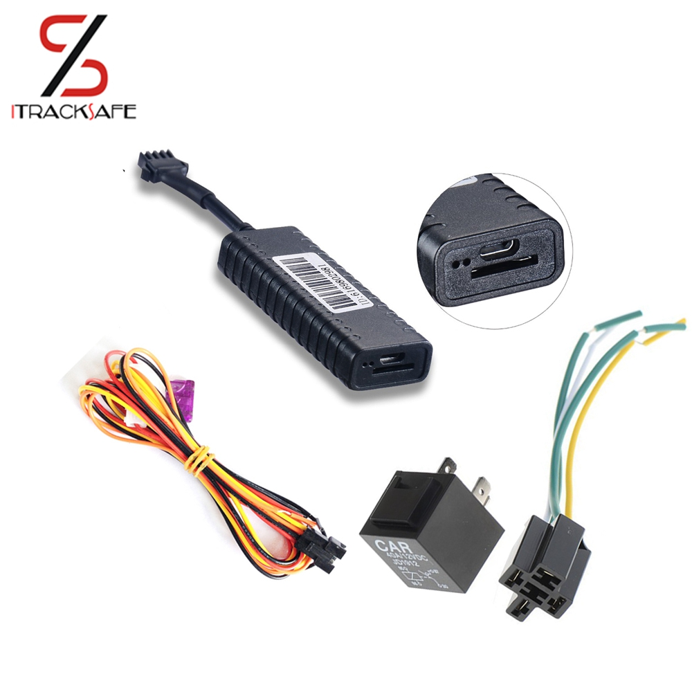 China mini gsm gprs motorcycle moto vehicle car gps tracker locator tracking device anti theft alarm system with engine cut