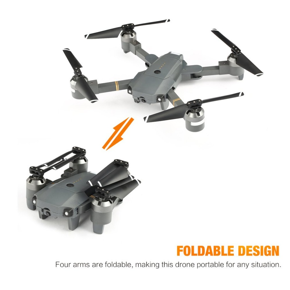 ATTOP XT-1 2.4GHz 6-axis Gyro Wi-Fi 2MP HD Camera Foldable Drone FPV RC Quadcopter with Headless Mode Altitude Hold 3D Flips jjrc h12wh wifi fpv with 2mp camera headless mode air press altitude hold rc quadcopter rtf 2 4ghz