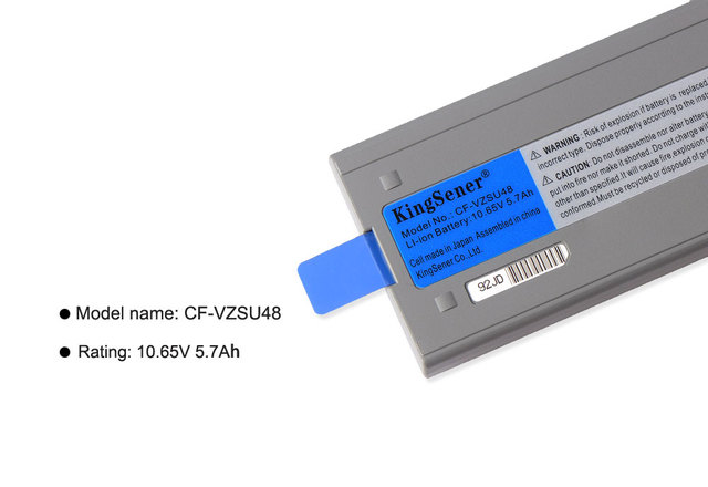 KingSener CF-VZSU48 portátil batería para Panasonic CF-VZSU48U CF-VZSU48R CF-VZSU28 CF-VZSU87R CF-VZSU50 CF-19 CF19 Toughbook