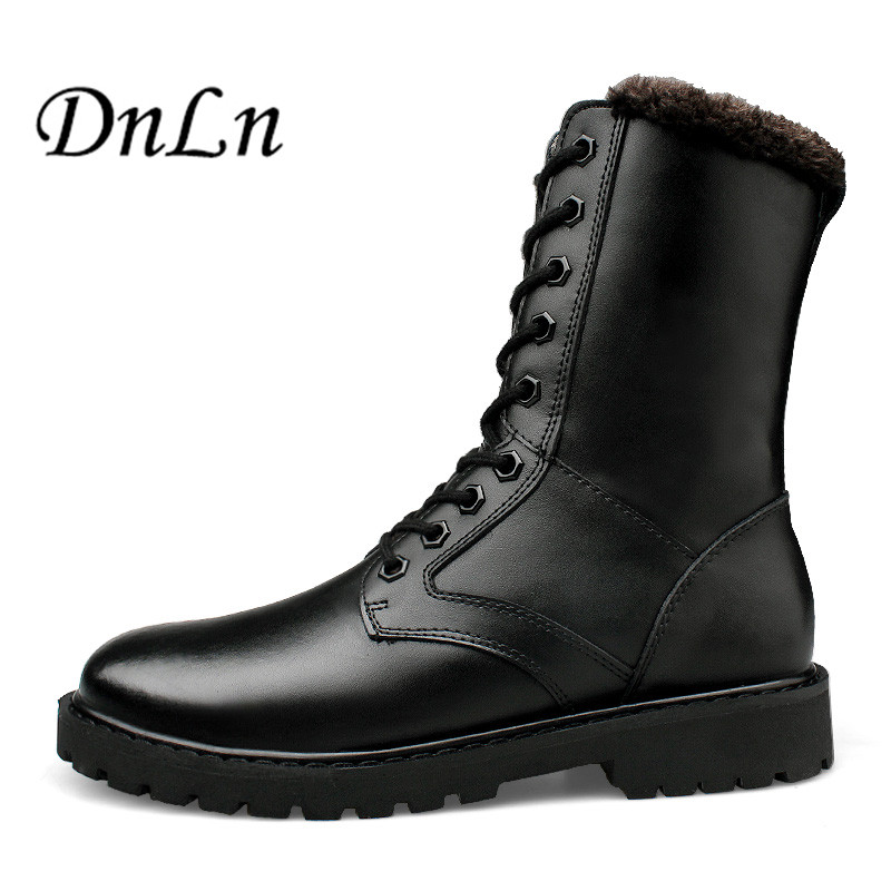 Men Winter Boots 2017 New Genuine Leather Men Boots Hot Sell Snow Boots Warm Winter Men Shoes D30