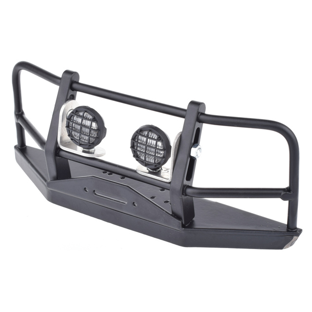RC 1:10 Rock Crawler Wraith D90 D110 Metal Front Bumper With Lampshade For D90 D110