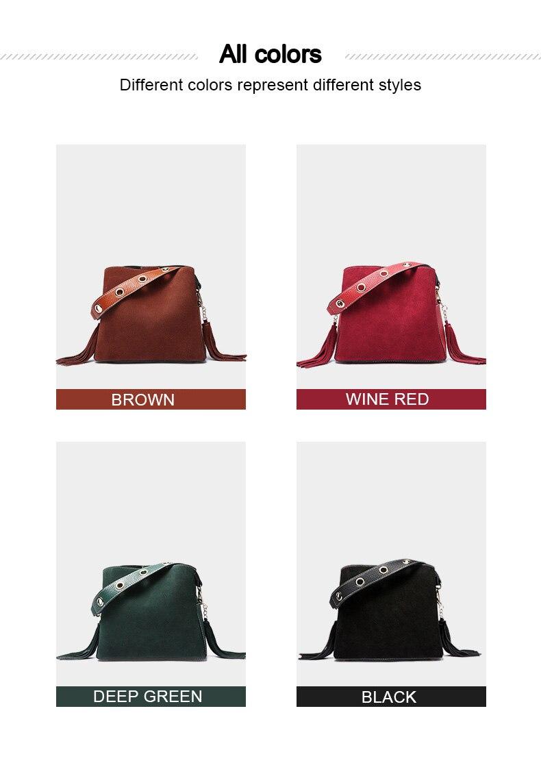 Compre DIENQI Camurça Do Vintage Bolsas Pequenas Mulheres Nova ... a0fe242b7164d