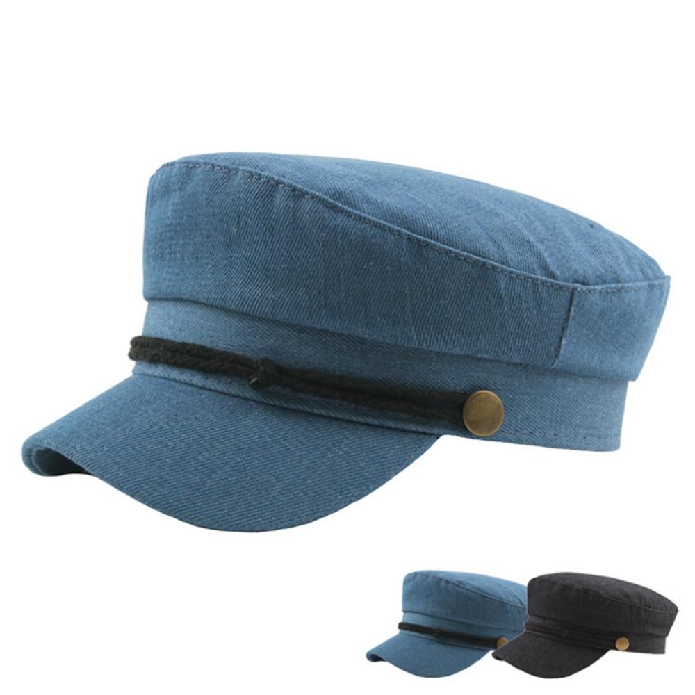 Casual Dame Kappen Weiblichen Hüte Unisex Vintage Twill Baumwolle Kappe Vintage Unadjustable Hut 9,6 100% Original Kopfbedeckungen Für Herren