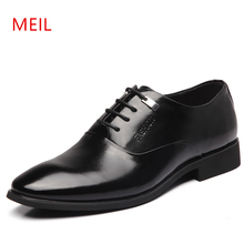 Mens Height Increasing Shoes Genuine Leather Classic Elevator 6CM Formal Dress Shoes Male Wedding Business Oxford Shoes For Men fashion new pointed toe men dress shoes hidden height increasing 6cm classic elevator wedding business formal shoes men loafers