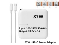 New Arrival High Quality 87W USB C Power Adapter Charger 1719 For Latest Macbook Pro 15inch