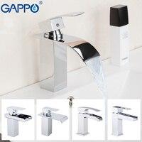 GAPPO воды смесительный кран раковина кран Ванная комната бассейна смесителя смеситель, белый хром водопад Туалет краны