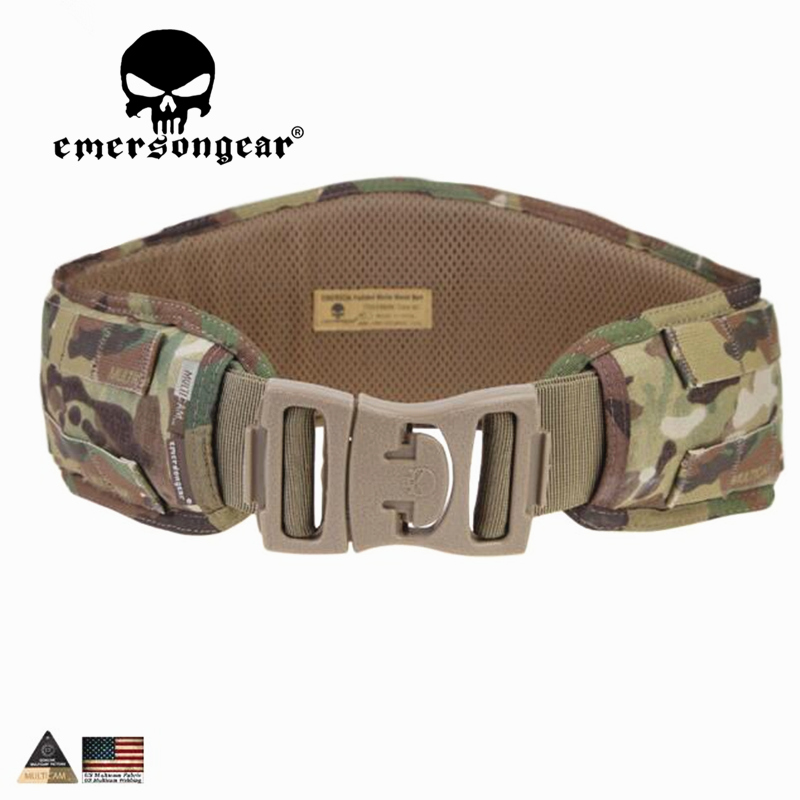 EMERSONGEAR Molle Belt Waist Padded Belt Emerson Airsoft Combat Hunting Tactical Waistband Hunting Belt Multicam EM9086 emerson molle tactical edc gp op pouch emersongear military hunting airsoft utility accessories admin organizer waist packs bag