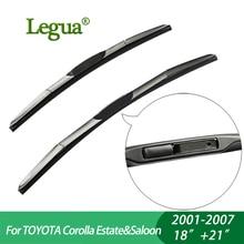 Legua Wiper blades For TOYOTA Corolla Estate&Saloon (2001-2007), 18″+21″,car wiper,3 Section Rubber, windscreen, Car accessory