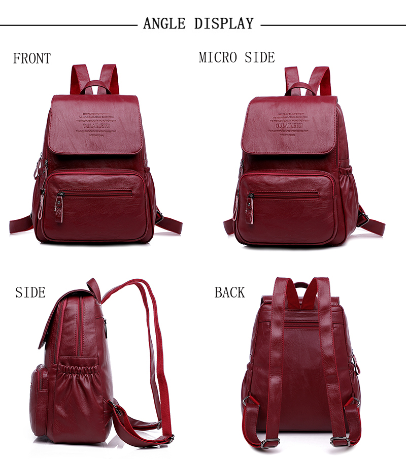 HTB1QF5jR3HqK1RjSZFEq6AGMXXaR 2019 Women Leather Backpacks High Quality Ladies Bagpack Luxury Designer Large Capacity Casual Daypack Sac A Dos Girl Mochilas