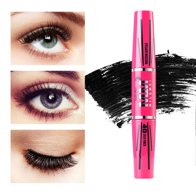 MILEMEI 4D Silk Fiber Eyelash Mascara Makeup Lengthening  Eye Lash Mascara Magic fiber Black Waterproof Eyelash Extension 3
