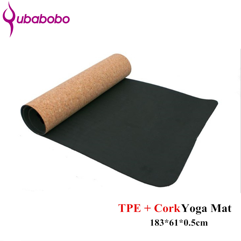 4/5/6MM Non-slip TPE+Cork Yoga Mats For Fitness Natural Pilates Gymnastics Mats Sport Mats Yoga Exercise Pads Massage Mats soumit 5 colors professional yoga socks insoles ballet non slip five finger toe sport pilates massaging socks insole for women