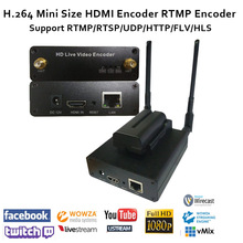 H.264 Camera-top HDMI Encoder soporta RTMP / RTSP / UDP / RTP para transmisión como Youtube / Facebook en vivo / Twitch, Wowza, Red5, FMS