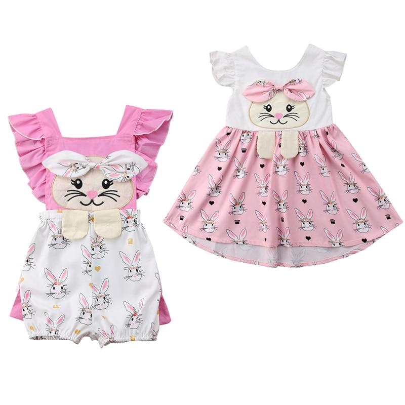Toddler Girl Cute Bunny Pink Dress