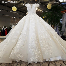 Купить с кэшбэком LS74232 vestido de noiva ivory and champagne off shoulder sweetheart ball gown lace up wedding dresses from china real photos