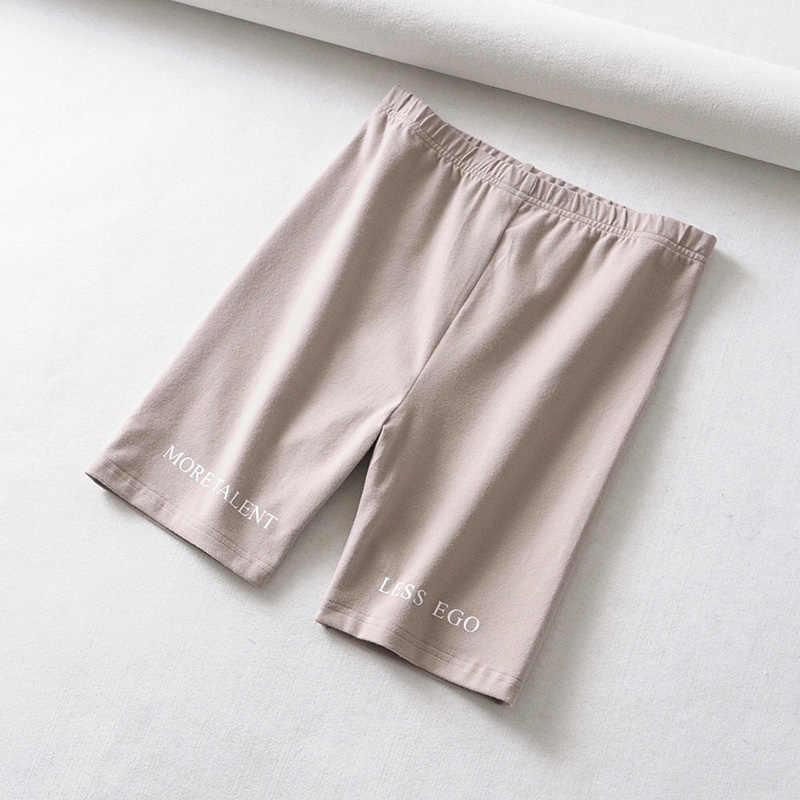 Lato spodenki w 2019 wysokiej talii szorty kobiety elastyczny pas skinny fitness koreański casual sexy krótki list drukuj czarne spodenki