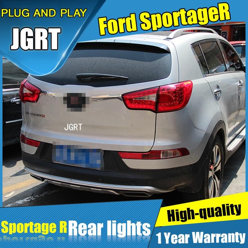 4PCS Car Styling for Kia Sportage R Taillights 2010-2014 for Sportage R LED Tail Lamp+Turn Signal+Brake+Reverse LED light внешние аксессуары myhung kia sportage 2010 2011 r abs 4