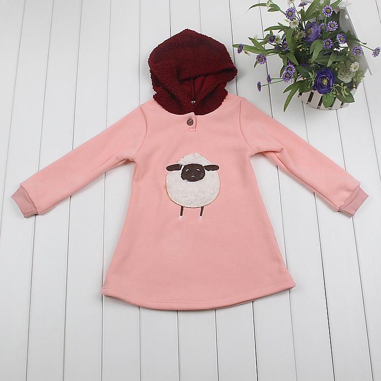 10aa4b1df 2018 Autumn Winter Girl Short Dress Cotton Long Sleeve Children ...