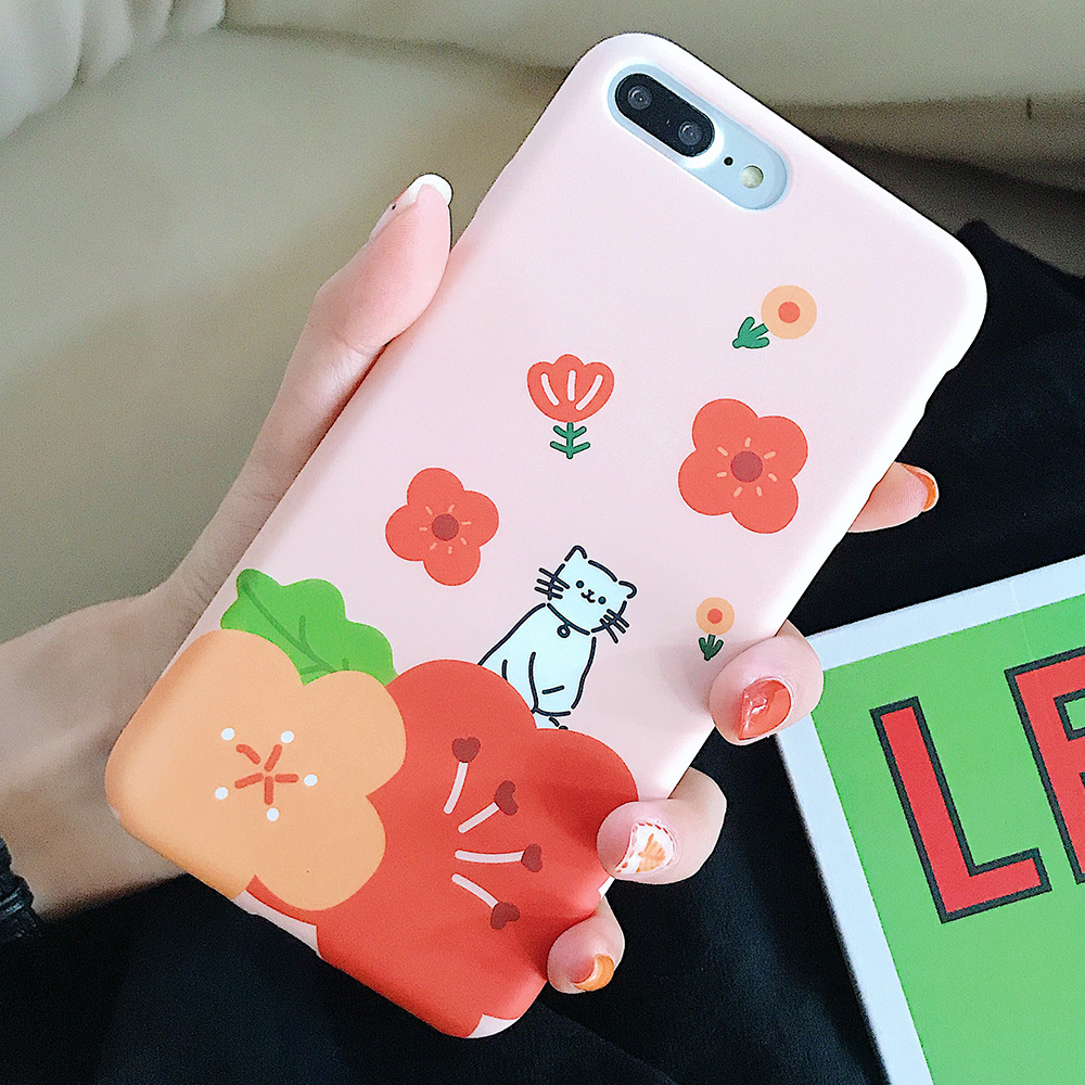 KIPX1123_7_JONSNOW Solid Liquid Soft Silicone Case For iPhone X XR XS Max 6 6S 7 8 Plus Cases Painted Cartoon Chick Cat Pattern TPU Cover