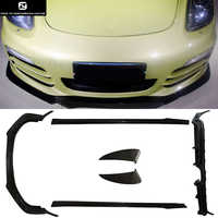 981 Carbon fiber Front lip rear diffuser side skirts Side air inlet for Porsche Boxster 981 12-14