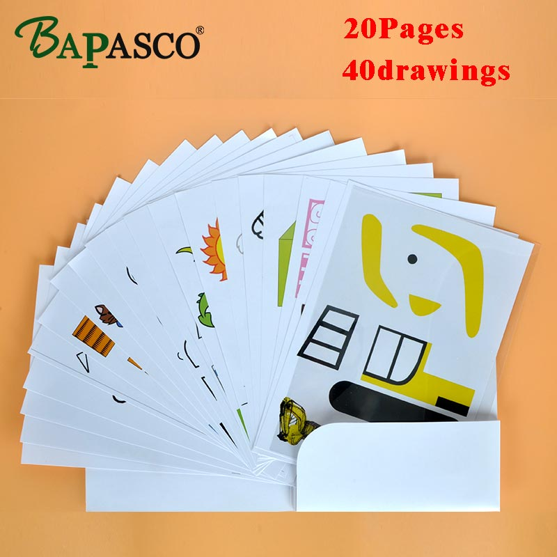 3D pen copy pattern ,it help kids to familiar with using 3D pen,all 20 pages 40 patterns,material is superior copperplate paper