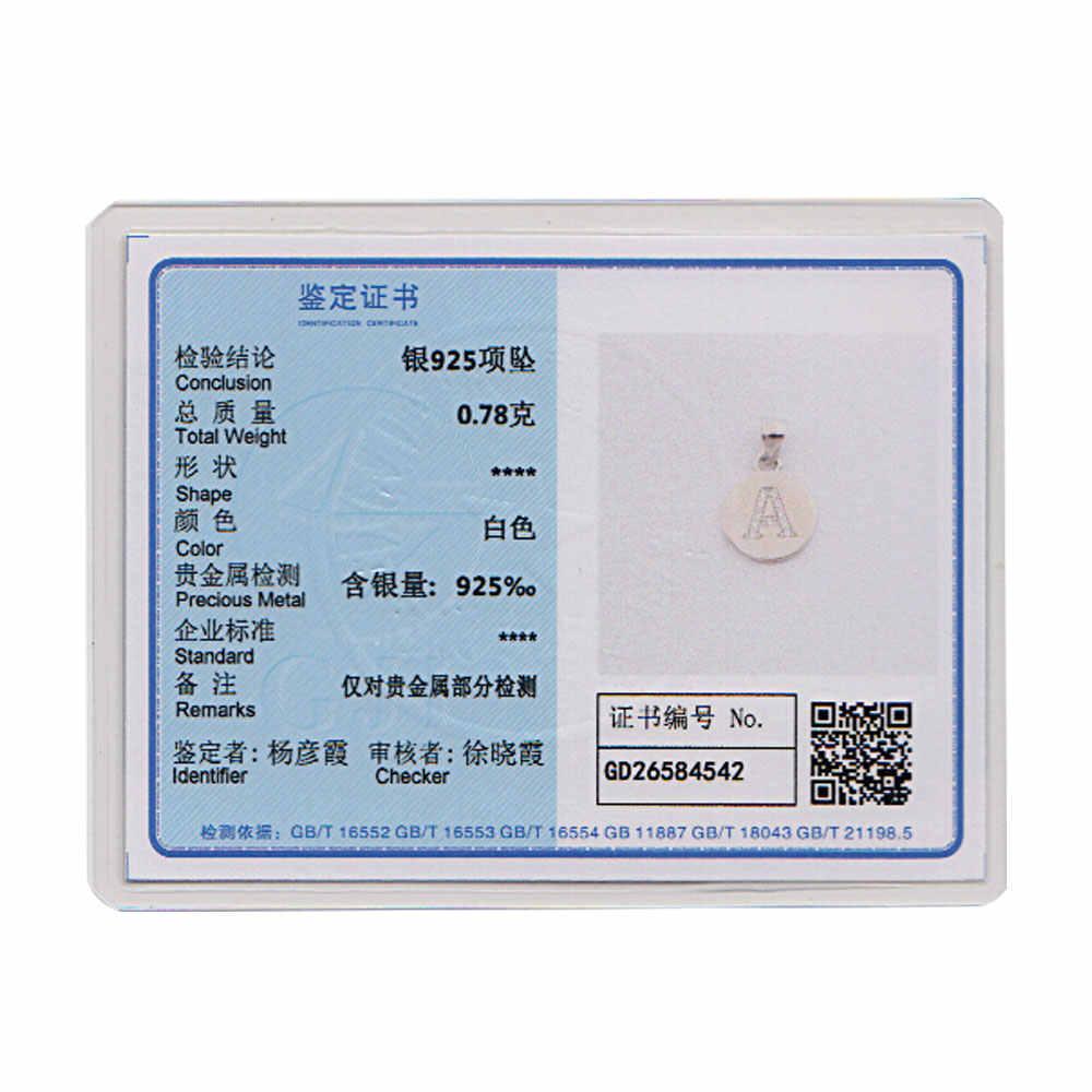 100% 925 เงินสเตอร์ลิง Initial Charm จี้สำหรับเครื่องประดับ DIY ผู้หญิงหา Charms A-Z Alaphabet Charms ขายส่ง