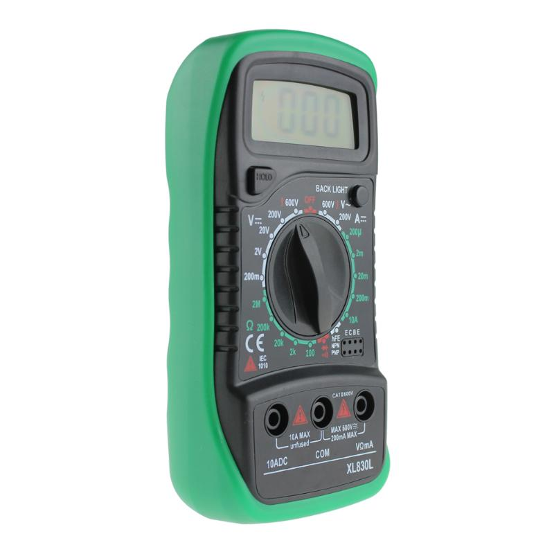 HTB1QF72a3HqK1RjSZFgq6y7JXXay Professional XL830L Digital Multimeter Voltmeter Ammeter AC DC OHM Volt Tester LCD Test Current Multimeter Overload Protection