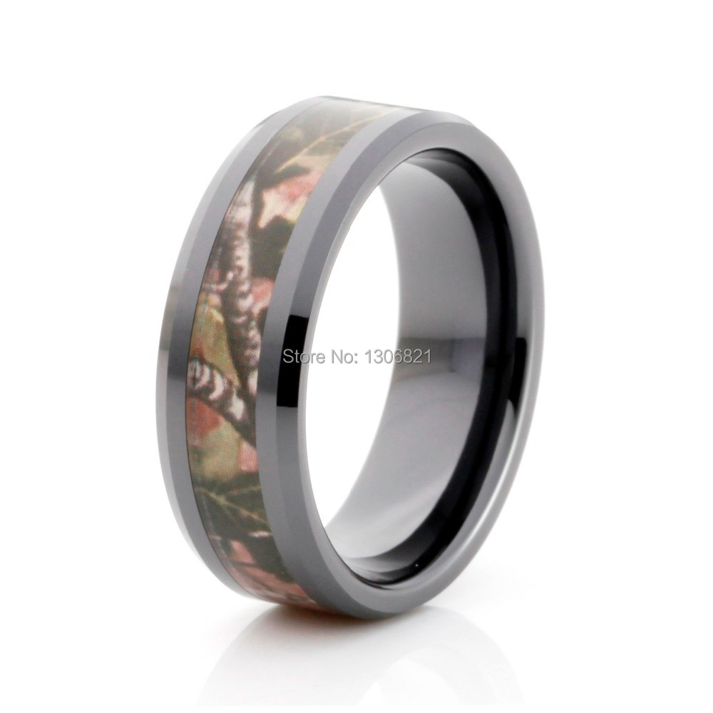 Very Por Black Ceramic Ring With Tree Camo Inlay Mens In Wedding Bands From Jewelry Accessories On Aliexpress Alibaba Group