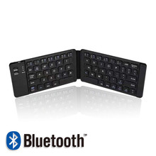 2019 mini bluetooth wireless folding keyboard computer mobile phone flat silent office mini keyboard цены