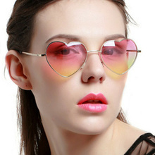 Vintage Love Heart Sunglasses Women Luxury Brand Designers Retro Sun Glasses For