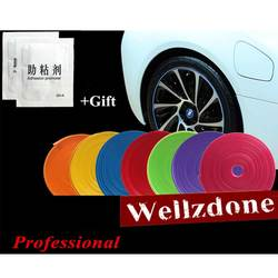 8 м/рулон 2019 новый протектор обода колеса Уход Auto Motor колпак диска колеса обода стайлинга автомобилей самоклеющиеся красные, синие Черный
