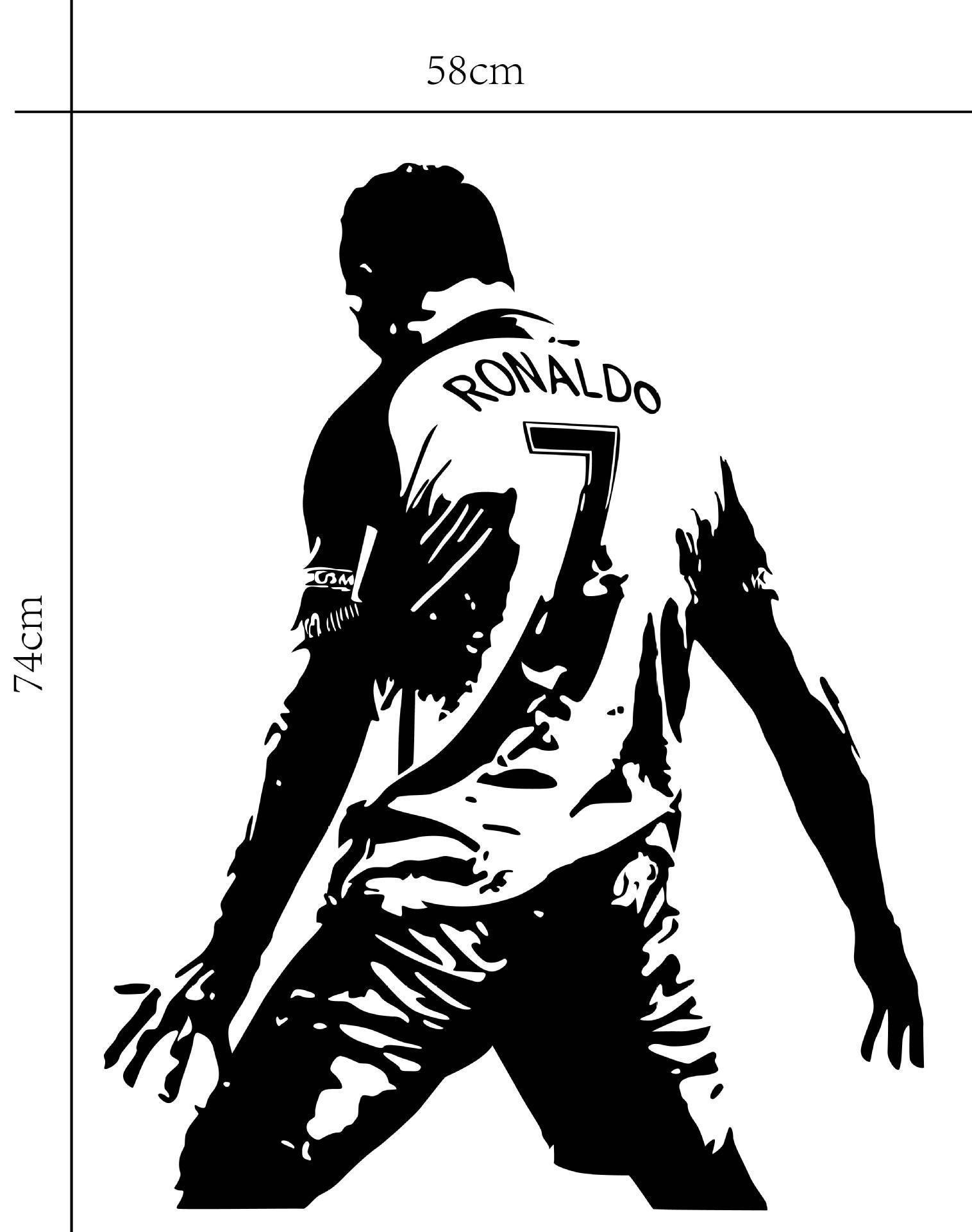 Real Madrid Football Ronaldo Domineering Celebration Removable Wall Stickers ...