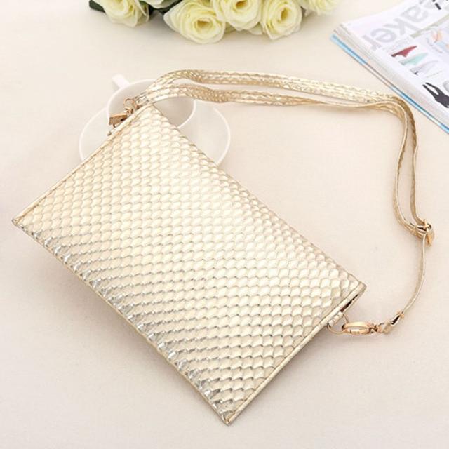 PU Leather Clutch Lady Evening Handbag 5