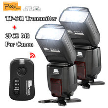 2PCS Pixel M8 Flash Speedlite & TF-361 Trigger Transmitter For Canon Hot shoe flash Shutter remote 700D 750D 760D 650D