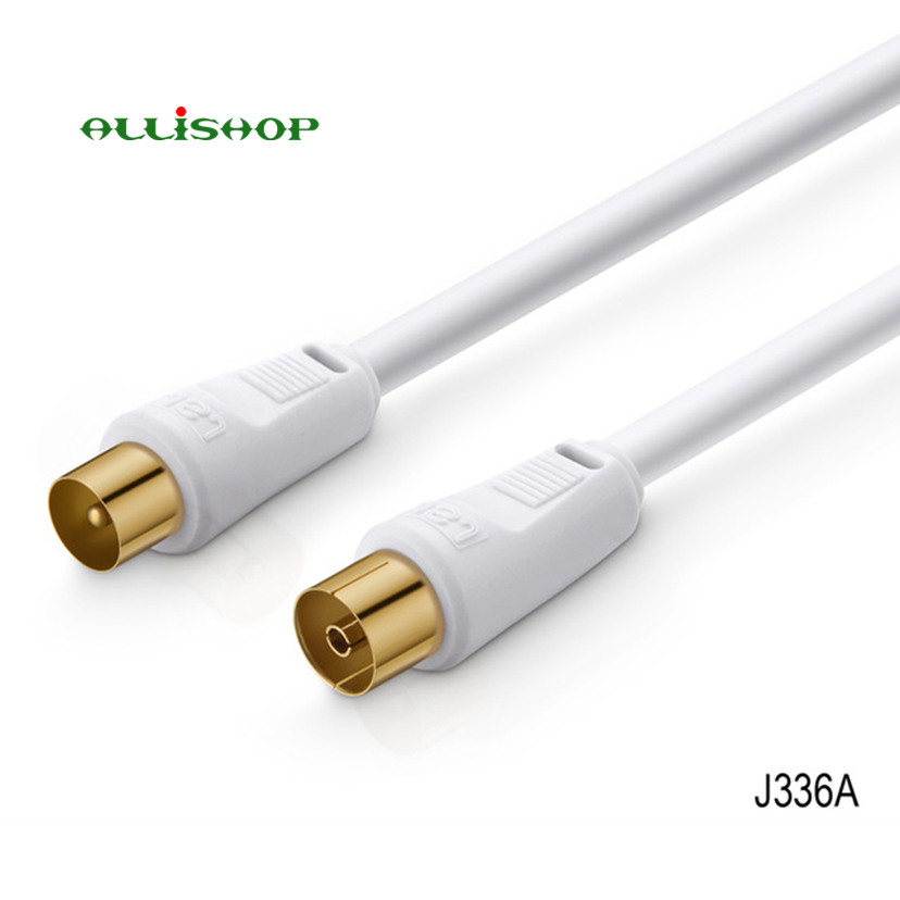 TV 9.5MM Male To Female RG6 Quad Shield CL2 Coaxial Antenna Satellite Extension Cable Flylead Aerial Male To Female RF Connector