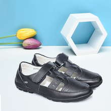 Big Children's Leather Shoe Summer Hollow Out Boy Casual Genuine Leather