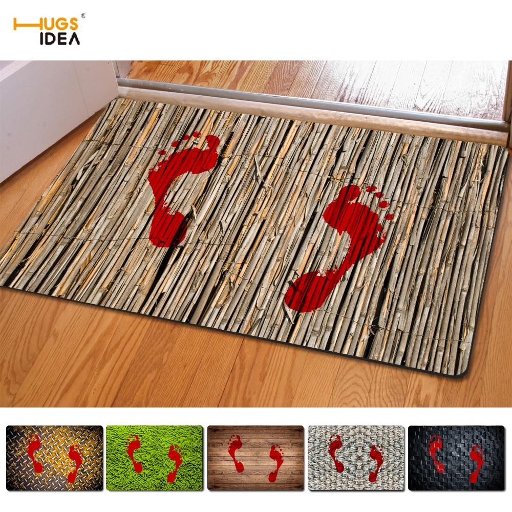 HUGSIDEA 3D 창조적 인 Bloodstain 인쇄 홈 카펫 미끄럼 주방 Tapetes 양탄자 파라 카사 살라 홈 거실 카펫