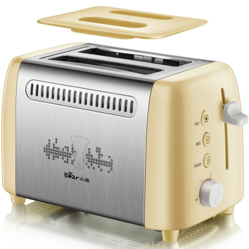 220V Bear Toasters  Bread Household Automatic Toaster Spit Bread Baking Machine Breakfast DSL-A02W1 cukyi 2 slices bread toaster household automatic toaster breakfast spit driver breakfast machine