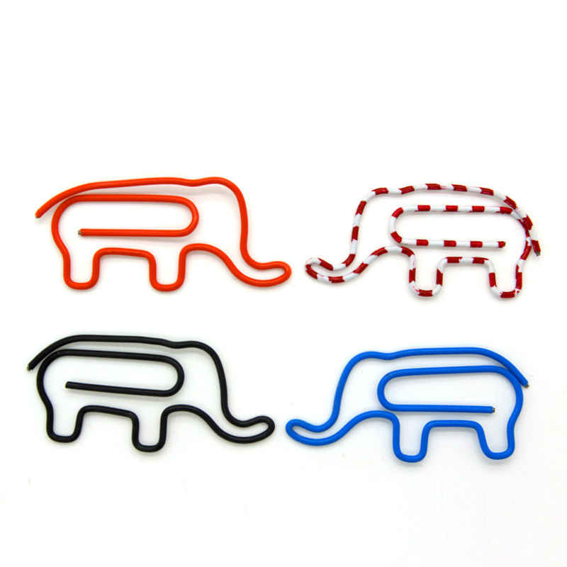 200pcs/lot Metal paper Clip Cute animals Clips Bookmark Kawaii Stationery School Office Supplies Stationery Gift