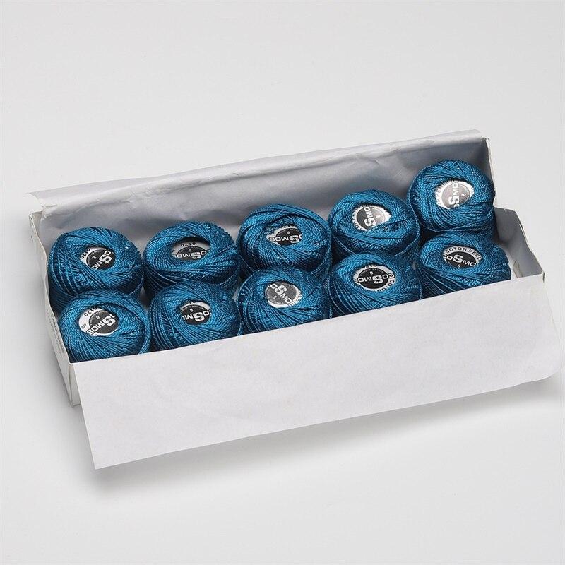 5 граммов размер, 8 жемчужных хлопковых нитей для вышивки крестиком, 43 ярдов на шарик, Двойной Мерсеризованный длинный штапельный хлопок, 10 шт./col - Цвет: 0170