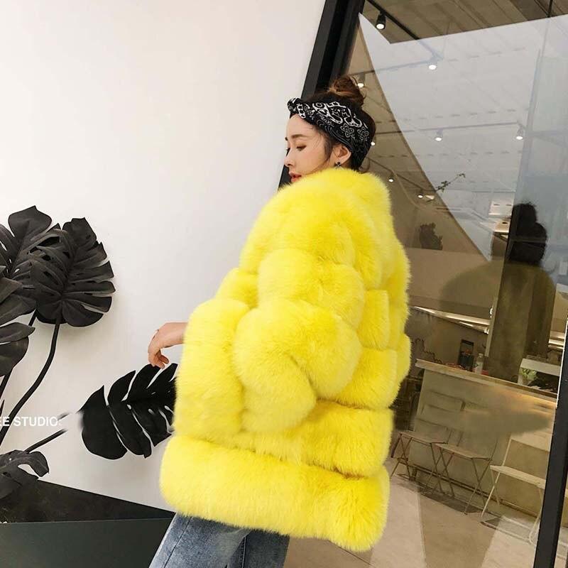 Wholeskin Les Blanc Picture Mode 2018 Manteaux D'hiver Fourrure Épais Jaune Femmes La À Pour Chaud Nature Nouvelle De As Fourrures Vestes Avec Tops Renard wgqEAZvxIq